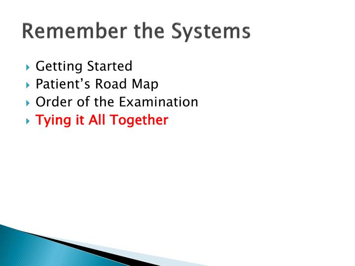 Remember the Systems
