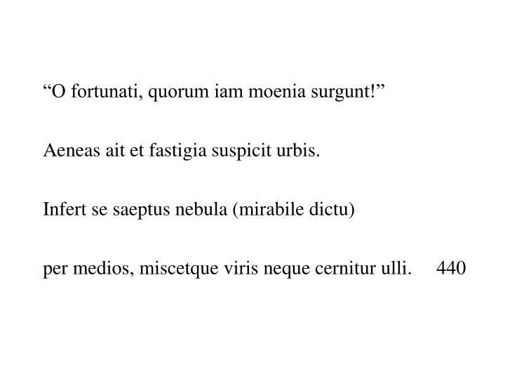 """""""O fortunati, quorum iam moenia surgunt!"""""""