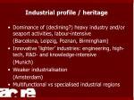 industrial profile heritage