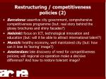 restructuring competitiveness policies 2