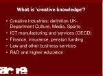what is creative knowledge