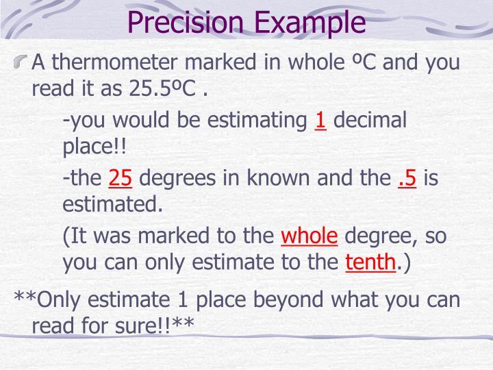 Precision Example