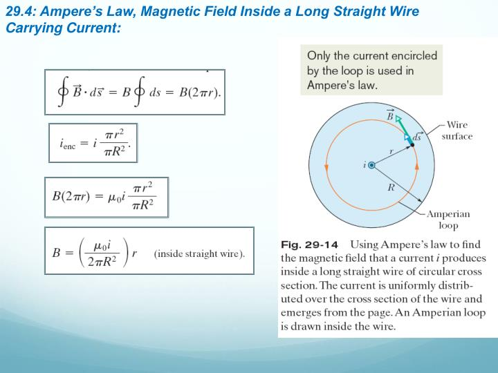 29.4: Ampere's Law, Magnetic Field Inside a Long Straight Wire