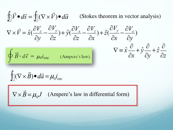 (Stokes theorem in vector analysis)