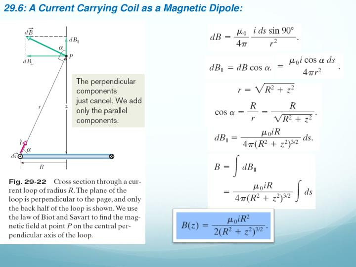 29.6: A Current Carrying Coil as a Magnetic Dipole: