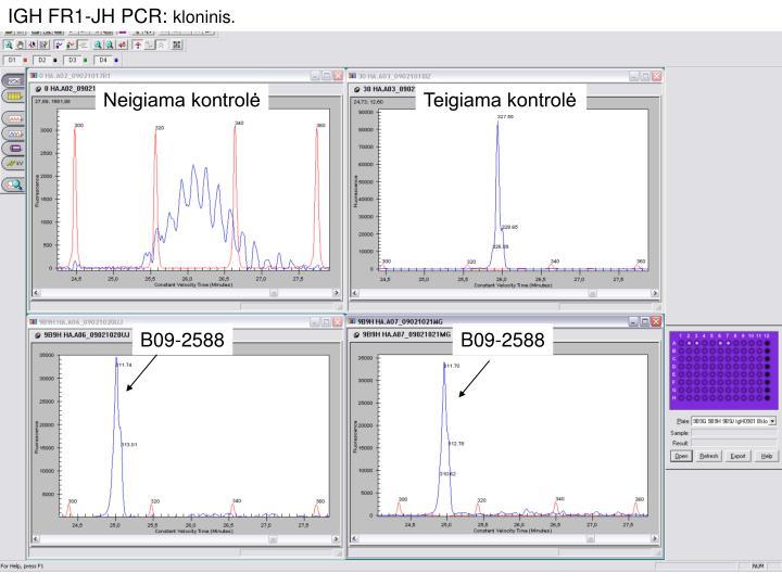 IGH FR1-JH PCR: