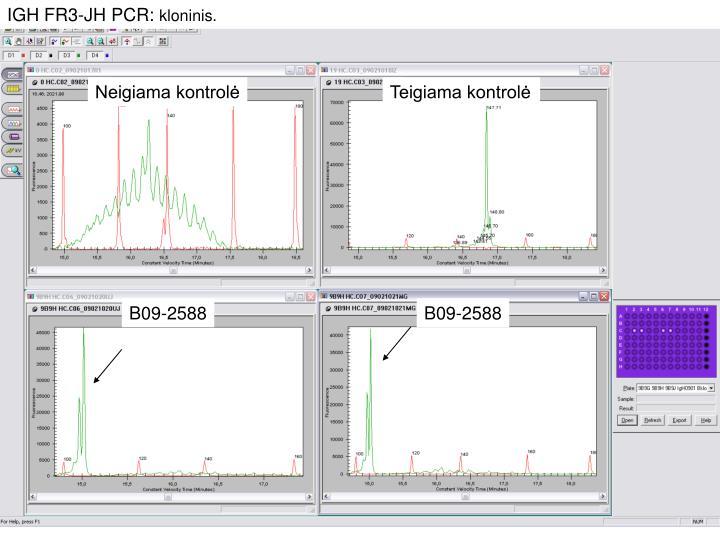 IGH FR3-JH PCR: