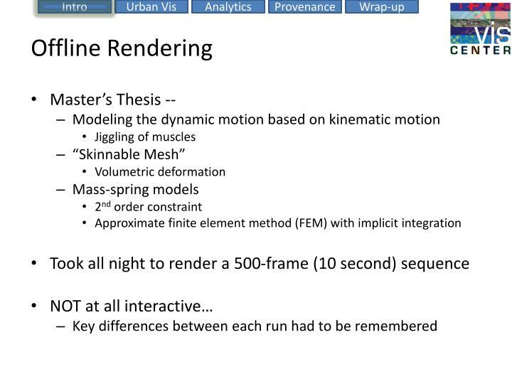 Offline Rendering