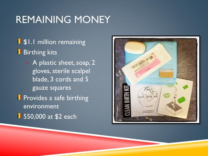 REMAINING MONEY
