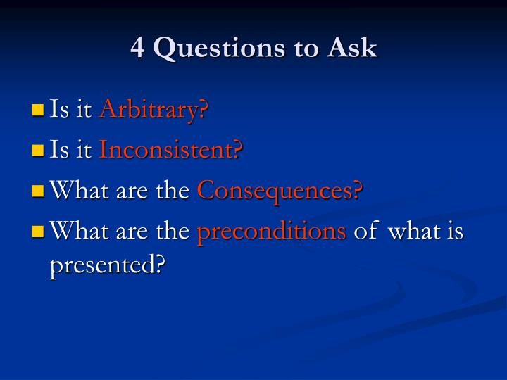 4 Questions to Ask