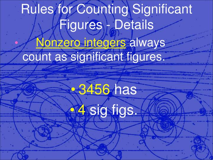 Rules for counting significant figures details