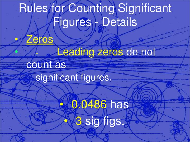 Rules for counting significant figures details1
