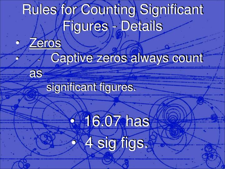 Rules for counting significant figures details2