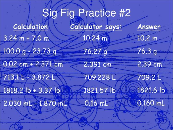 Sig Fig Practice #2