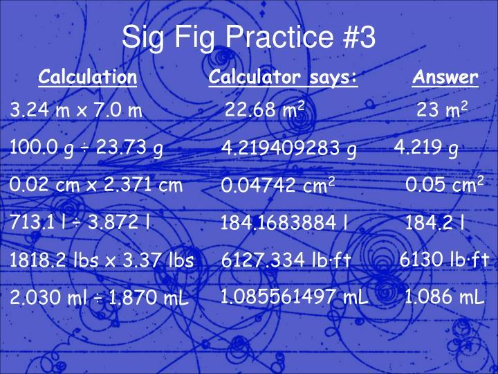 Sig Fig Practice #3