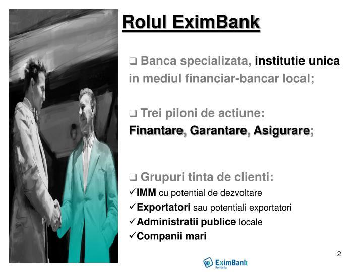 Rolul EximBank