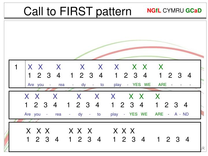 Call to FIRST pattern