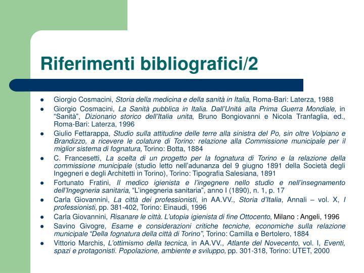 Riferimenti bibliografici/2