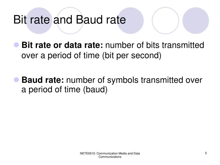 Bit rate and Baud rate
