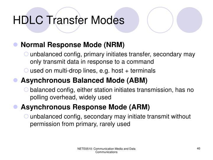 HDLC Transfer Modes