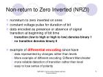 non return to zero inverted nrzi
