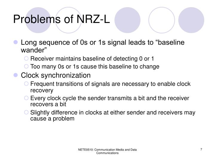 Problems of NRZ-L