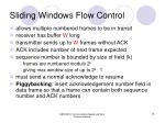 sliding windows flow control