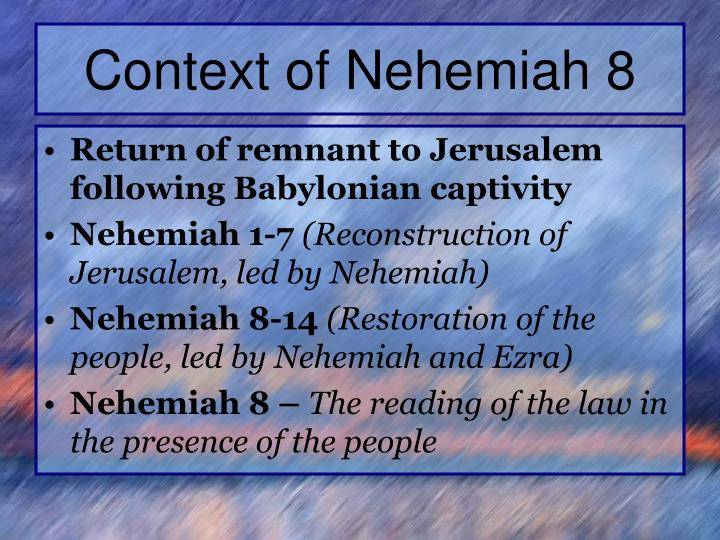 Context of Nehemiah 8