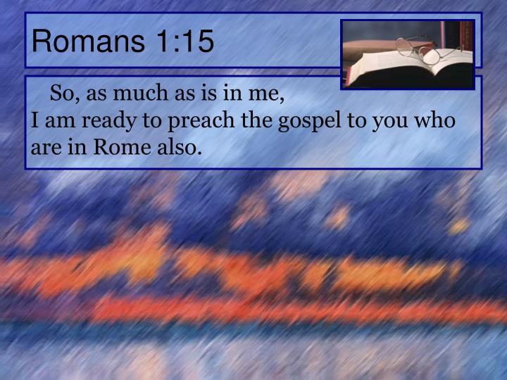 Romans 1:15