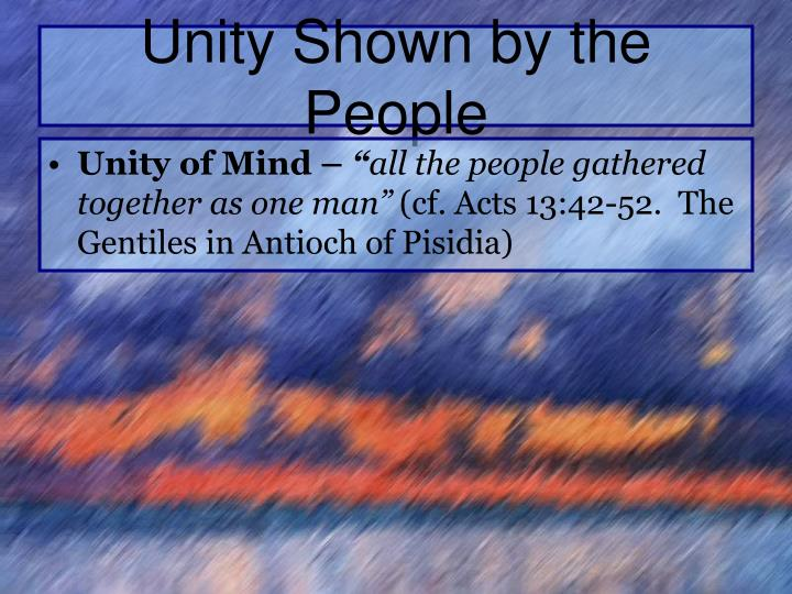 Unity Shown by the People