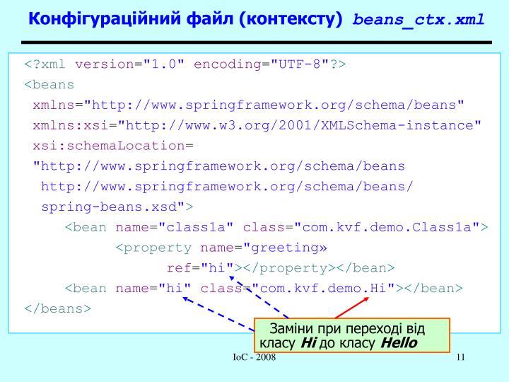 Конфігураційний файл (контексту)