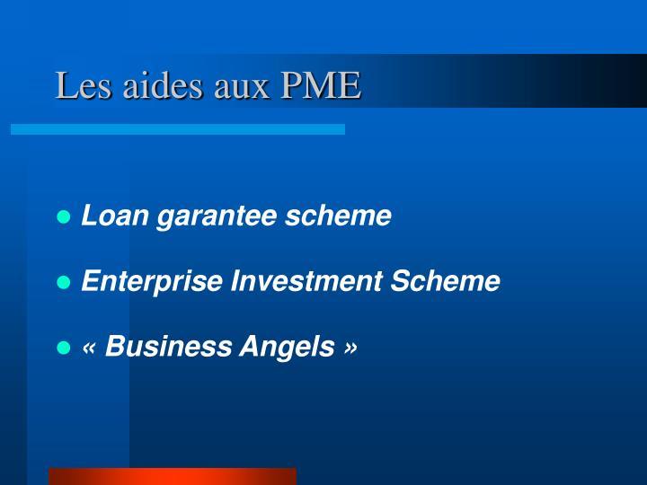 Les aides aux PME