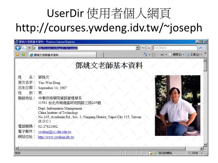 UserDir