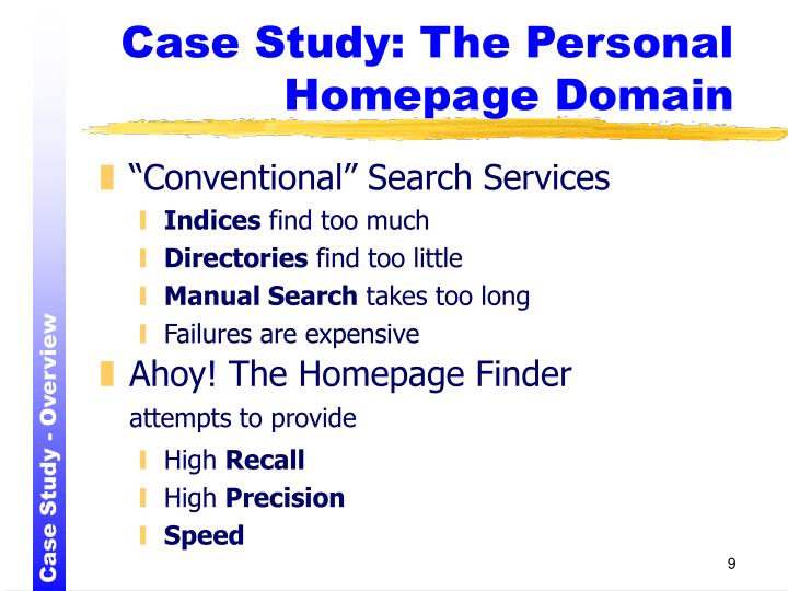 Case Study: The Personal Homepage Domain