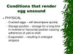conditions that render egg unsound1