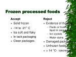 frozen processed foods