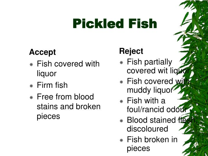 Pickled Fish