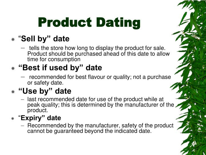 Product Dating