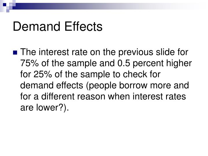 Demand Effects