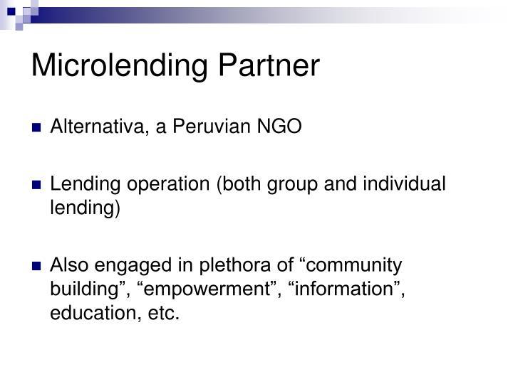Microlending Partner