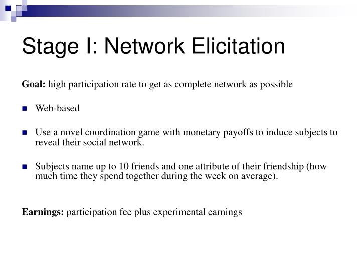 Stage I: Network Elicitation