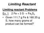limiting reactant2