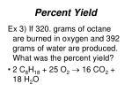 percent yield3