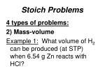 stoich problems5
