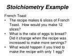 stoichiometry example1
