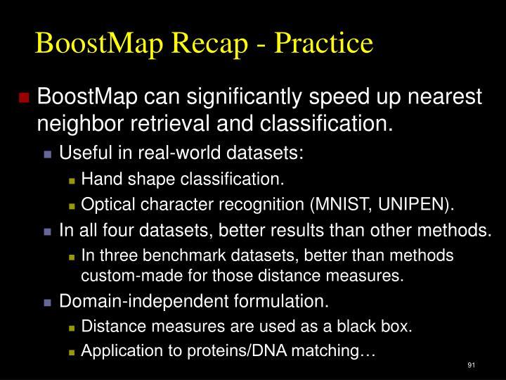 BoostMap Recap - Practice