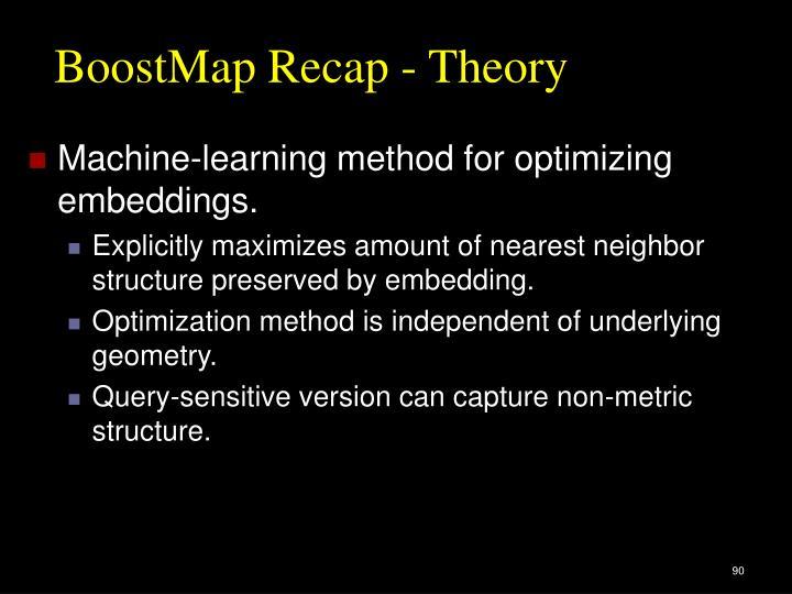 BoostMap Recap - Theory