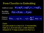 from classifier to embedding3