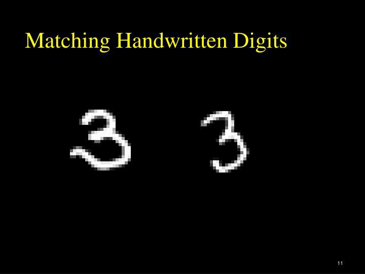 Matching Handwritten Digits