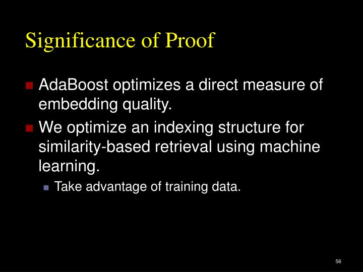 Significance of Proof